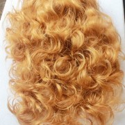 Golden curly, wig (2)