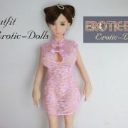 Pink lace cheongsam 02