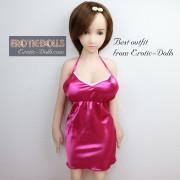 Pink pajamas V-neck dress 02