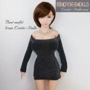 Tube dress, full sleeves 03