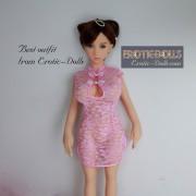 Pink lace cheongsam 03