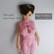 Pink lace cheongsam 04