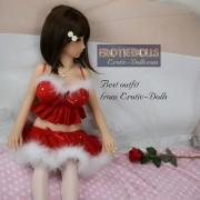 Lingerie Set Christmas red bra mini skirt 05