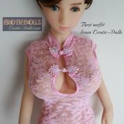 Pink lace cheongsam 05