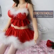 Lingerie Set Christmas red bra mini skirt 06