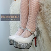 High heel shoes for 100cm doll (3)