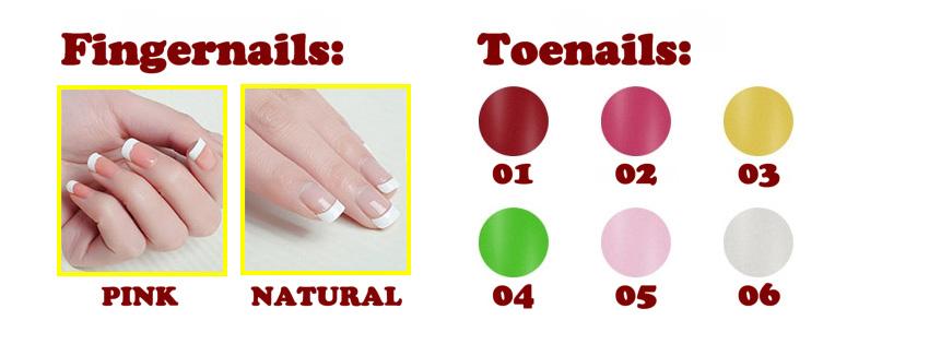 Robot series - fingernails and toenails option EN