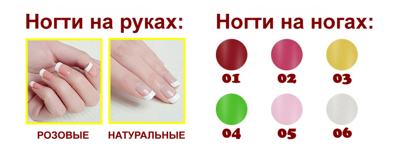 Robot series - fingernails and toenails option RU
