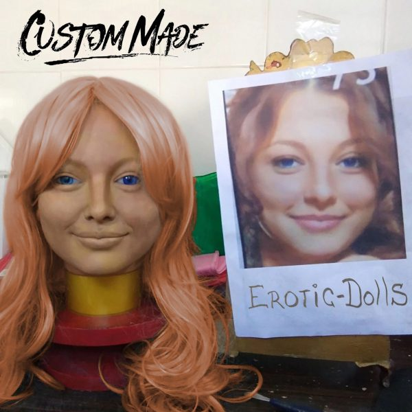 Custom-made head, doll