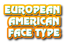 Navi button - european-american face
