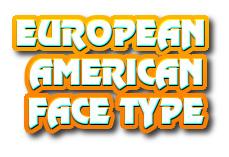 Navi button - european-american face