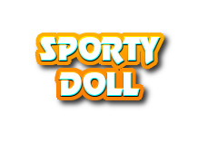 Navi button - sporty doll