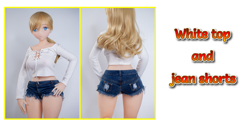 DH168 top jean shorts outfit EN