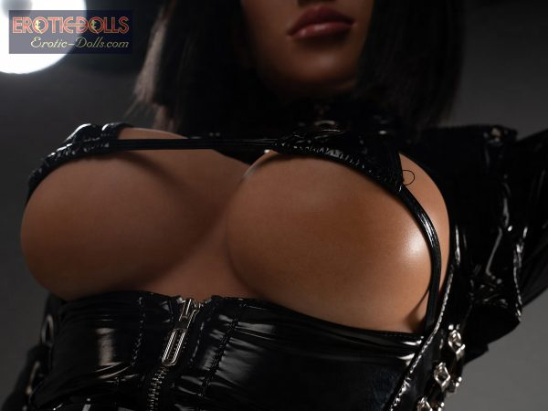 Sex doll Helma in leather suit 05