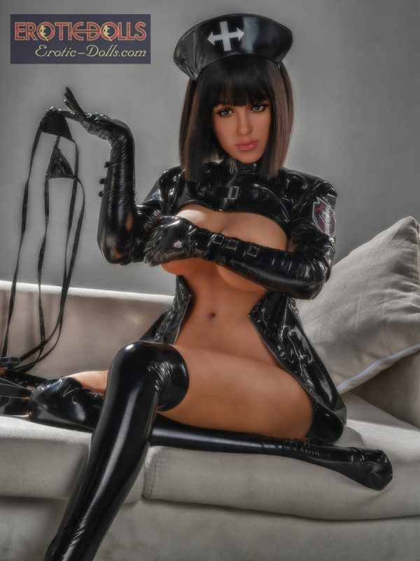 Sex doll Helma in leather suit 11