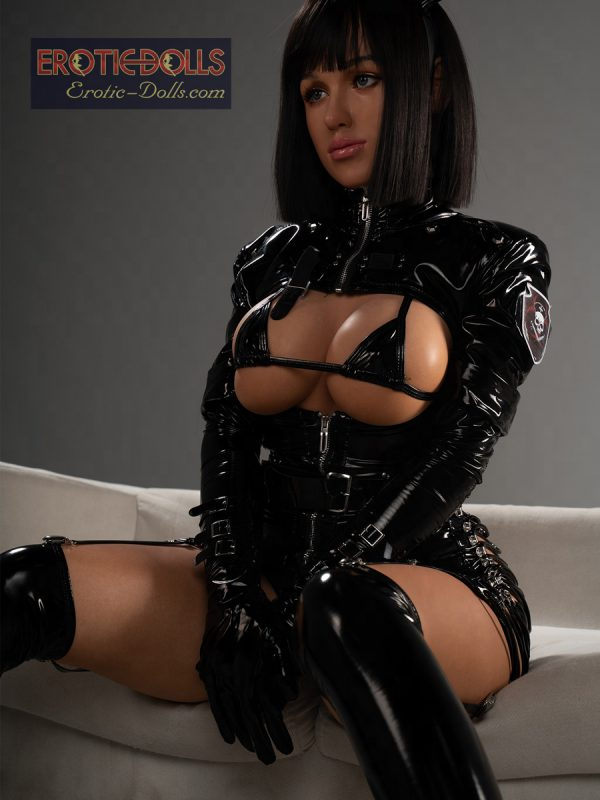 Sex doll Helma in leather suit 17