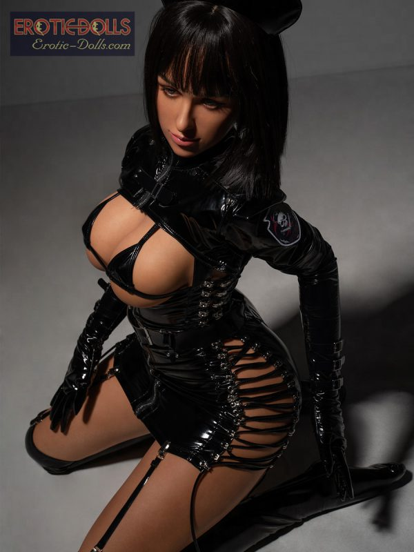 Sex doll Helma in leather suit 18